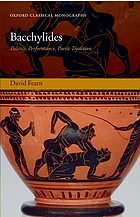 Bacchylides : politics, performance, poetic tradition