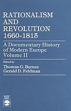 Rationalism and revolution, 1660-1815
