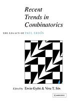 "Recent trends in combinatorics : the legacy of Paul ErdősRecent trends in combinatorics : the legacy of Paul Erdős ; [... combinatorial workshop ""Some Trends in Discrete Mathematics"" was held in Mátraháza, Hungary, from 22 to 28 October 1995]"