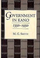 Government in Kano, 1350-1950