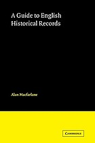 A guide to English historical records