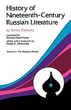 History of nineteenth-century russian literature