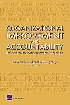 Organizational improvement and accountability : lessons for education from other sectors