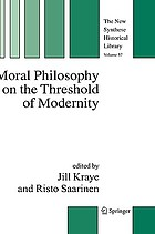 Moral philosophy on the threshold of modernity