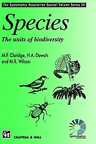 Species : the units of biodiversity