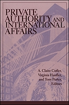 Private authority and international affairs