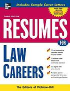 Résumés for law careers