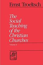 The social teaching of the Christian churches