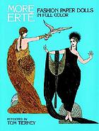 More Erté fashion paper dolls in full color