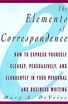 The elements of correspondence