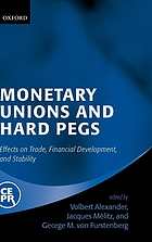 Monetary unions and hard pegs : effects on trade, financial development, and stability