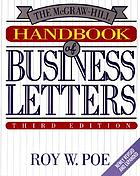 The McGraw-Hill handbook of business lettersHANDBOOK of BUSINESS LETTERS
