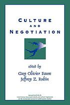 Culture and negotiation : the resolution of water disputes