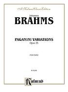 Variations on a theme by Paganini : for the piano : op. 35 : in two books