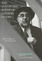 The collected poems of Charles Olson : excluding the Maximus poems