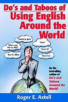 Do's and taboos of using English around the world