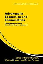 Advances in economics and econometrics : theory and applications, ninth World Congress
