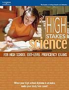 High stakes : science