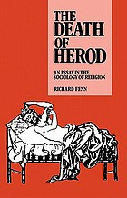 The death of Herod : an essay in the sociology of religion