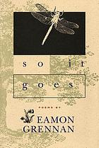 So it goes : poems