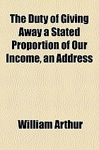 The duty of giving away a stated proportion of our income