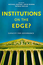 Institutions on the edge? : capacity for governance