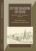 In the shadow of Sinai : stories of travel and biblical research