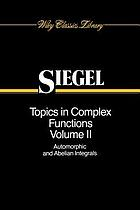 Topics in complex function theoryTopics in complex function theory