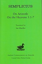 On Aristotle On the heavens 3.1-7