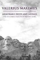 Memorable deeds and sayings : one thousand tales from ancient Rome