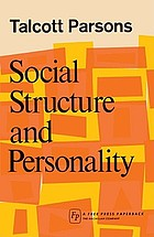 Social structure and personality