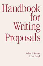 Handbook for writing proposals