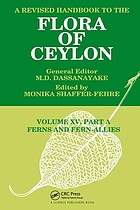 A Revised handbook to the flora of Ceylon : [a project]