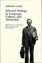 Selected writings in language, culture and personality