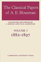 The classical papers of A.E. Housman