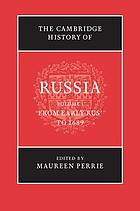 The Cambridge history of Russia