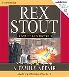 A family affair : a Nero Wolfe novel