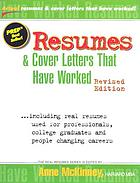 Resumes and cover letters that have worked