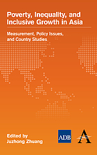 Poverty, inequality, and inclusive growth in Asia : measurement, policy issues, and country studies