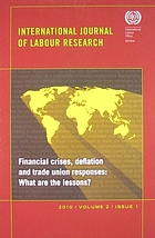 Financial crises, deflation and trade union responses : what are the lessons?
