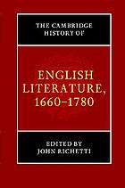 The Cambridge history of English literature, 1660-1780