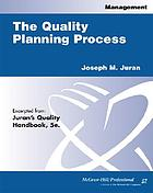 The quality planning process