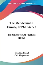 The Mendelssohn family 1729-1847; from letters and journals