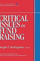 Critical issues in fund raising