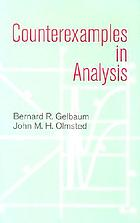 Counterexamples in analysisCounterexamples in analysis