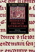 The Cambridge companion to medieval French literature