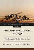 With Anza to California, 1775-1776 : the journal of Pedro Font, O.F.M.