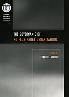 The governance of not-for-profit organizations
