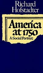 America at 1750; a social portrait