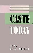 Caste today